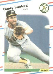 1988 Fleer 285 Carney Lansford