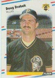 1988 Fleer 327 Doug Drabek