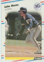 1988 Fleer 381 John Moses