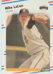 1988 Fleer 86 Mike LaCoss