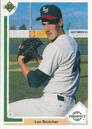 1991 Upper Deck 75 Len Brutcher RC