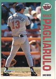 1992 Fleer 216 Mike Pagliarulo