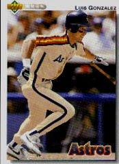 1992 Upper Deck 372 Luis Gonzalez