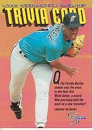 1998 SkyBox Dugout Axcess #142 Livan Hernandez TRIV