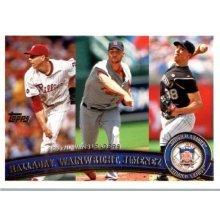 2011 Topps #11 Roy Halladay/Adam Wainwright/Ubaldo Jimenez LL