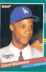 1991 Donruss #696 Darryl Strawberry