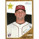 2011 Topps Heritage #309 Yonder Alonso RC