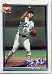 1991 Topps 22 Storm Davis