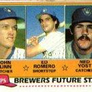 1981 Topps #659 John Flinn / Ed Romero / Ned Yost - Milwaukee Brewers (Future Stars)(Baseball Cards)