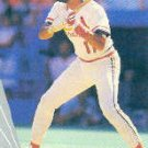 1990 Leaf 129 Jose Oquendo UER/(League misspelled/as Legue)