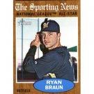 2011 Topps Heritage #394 Ryan Braun AS