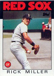 1986 Topps #424 Rick Miller