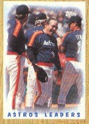 1987 Topps 531 Astros Team/(Yogi Berra conference)