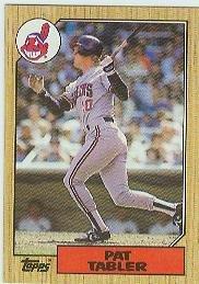 1987 Topps 575 Pat Tabler