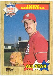 1987 Topps 605 Todd Worrell AS