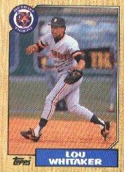 1987 Topps 661 Lou Whitaker