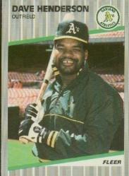 1989 Fleer 10 Dave Henderson