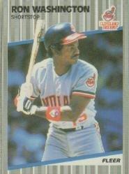 1989 Fleer 416 Ron Washington