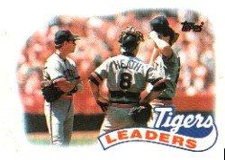 1989 Topps 609 Frank Tanana/Alan Trammell/Mike Heath TL