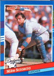 1991 Donruss 112 Mike Scioscia