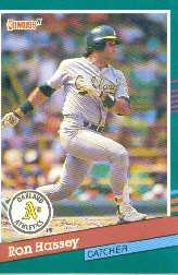 1991 Donruss 476 Ron Hassey