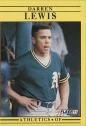 1991 Fleer 15 Darren Lewis