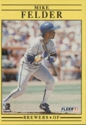 1991 Fleer 583 Mike Felder