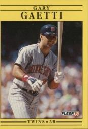 1991 Fleer 609 Gary Gaetti