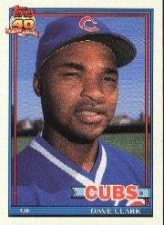 1991 Topps 241 Dave Clark UER