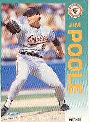 1992 Fleer 23 Jim Poole