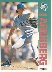 1992 Fleer 298 Brad Arnsberg