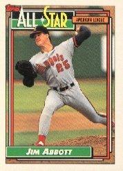 1992 Topps 406 Jim Abbott AS