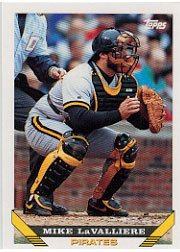 1993 Topps 54 Mike LaValliere