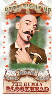 2011 Topps Allen and Ginter Mini Step Right Up #SRU6 The Human Blockhead