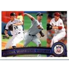 2011 Topps #82 Josh Johnson/Adam Wainwright/Roy Halladay LL