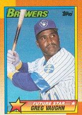 1990 Topps #57 Greg Vaughn