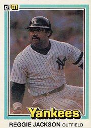 1981 Donruss 468 Reggie Jackson