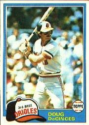 1981 Topps #188 Doug DeCinces