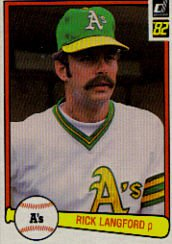 1982 Donruss #161 Rick Langford