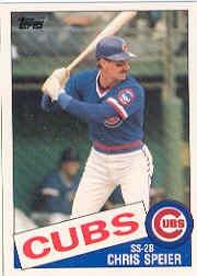 1985 Topps Traded #111T Chris Speier