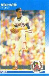 1987 Fleer #95 Mike Witt