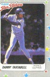 1988 Fleer Star Stickers #34 Danny Tartabull