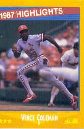 1988 Score 652 Vince Coleman HL