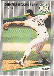 1989 Fleer 7 Dennis Eckersley