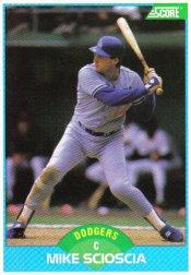 1989 Score #121 Mike Scioscia