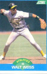 1989 Score #165 Walt Weiss
