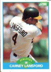 1989 Score #179 Carney Lansford