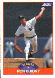 1989 Score #342 Ron Guidry