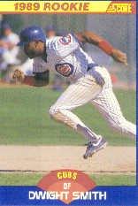 1989 Score #642 Dwight Smith UER RC