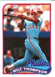 1989 Topps 128 Milt Thompson